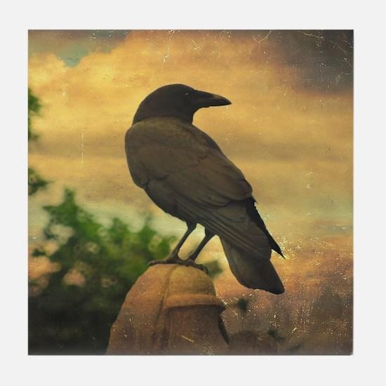 Cool Blackbird Tile Coaster