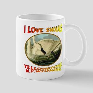 I Love Swans Yellowstone N.P. Wyoming Mug