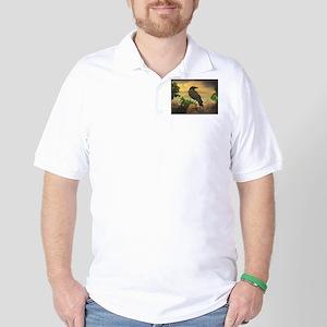 Dark Retro Crow Golf Shirt