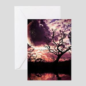 Dark Lunar Dreams Greeting Cards