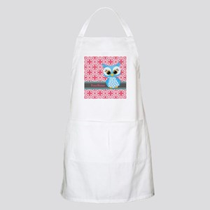 Beautiful Teal Owl Personalized Apron