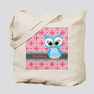 Beautiful Teal Owl Personalized Tote Bag