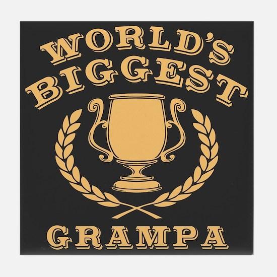 World's Biggest Grampa Tile Coaster