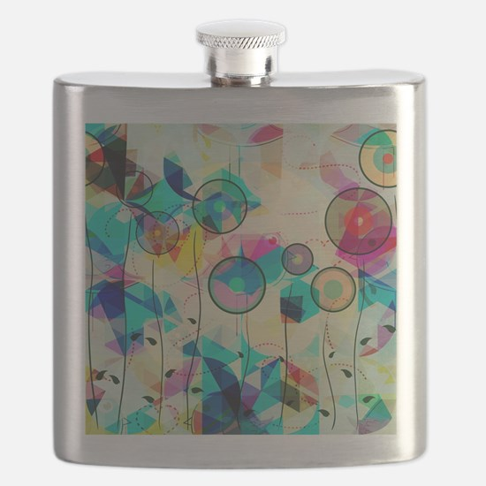 Cool Abstract art Flask