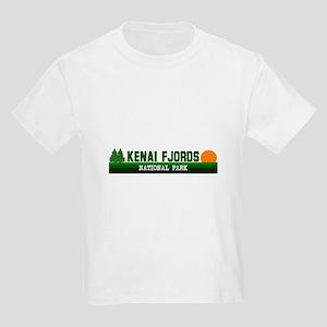Kenai Fjords National Park Kids Light T-Shirt