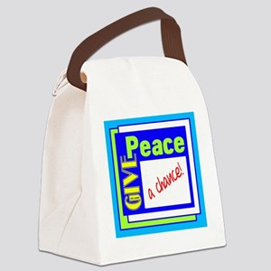 Give Peace A Chance Canvas Lunch Bag