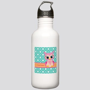 Cute Pink Little Owl P Stainless Water Bottle 1.0L