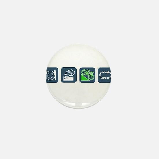 Cute Eat sleep Mini Button