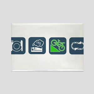 Eat, Sleep, Bike, Repeat Magnets