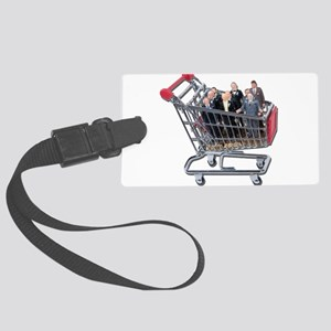 ShoppingForSupportTeam011011 Large Luggage Tag