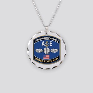 Aviation Electrician's Mate Necklace Circle Charm