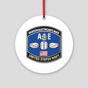 Aviation Electrician's Mate - Nec Ornament (round)