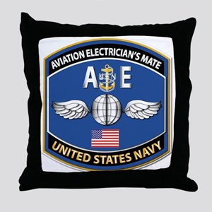 Aviation Electrician's Mate - NEC Throw Pillow
