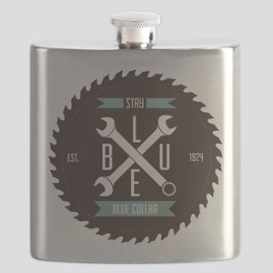 Stay BLUE Collar Flask