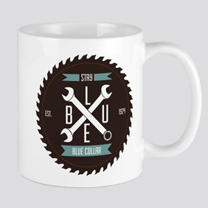 Stay BLUE Collar Mugs
