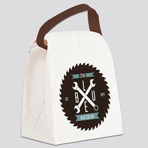 Stay BLUE Collar Canvas Lunch Bag
