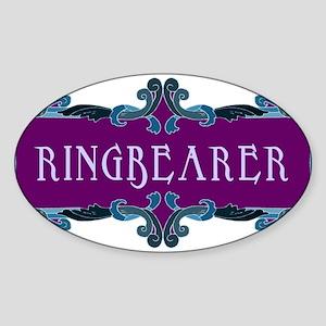 Ringbearer Oval Sticker