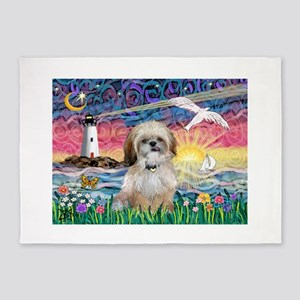 Lighthouse-Seagull-Shih (P) 5'x7'Area Rug