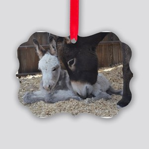 Eeyore and Angel Picture Ornament
