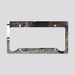 Eeyore and Angel License Plate Holder