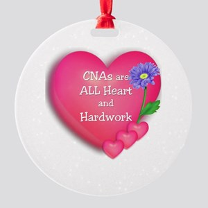 CNA Hearts Round Ornament