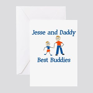 Jesse & Daddy - Best Buddies Greeting Cards (Packa