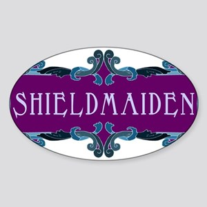 Shieldmaiden Oval Sticker