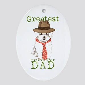 Maltese Dad Oval Ornament