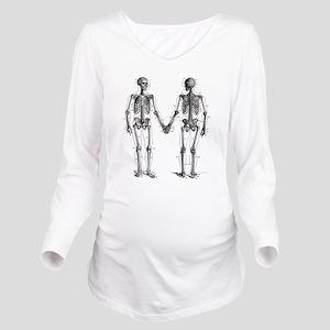 Skeletons Long Sleeve Maternity T-Shirt
