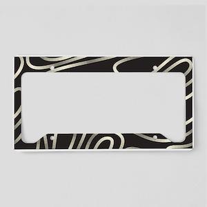 Iridescent Lines License Plate Holder
