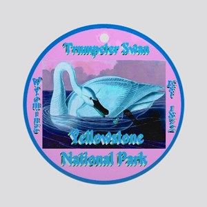 Trumpeter Swan Yellowstone N.P. W Ornament (Round)