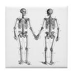 Skeletons Tile Coaster