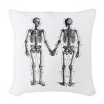 Skeletons Woven Throw Pillow