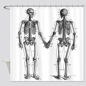 Skeletons Shower Curtain