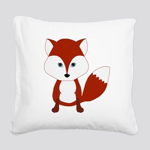 Cute Red Fox Square Canvas Pillow