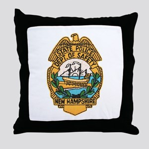 New Hampshire State Police Throw Pillow