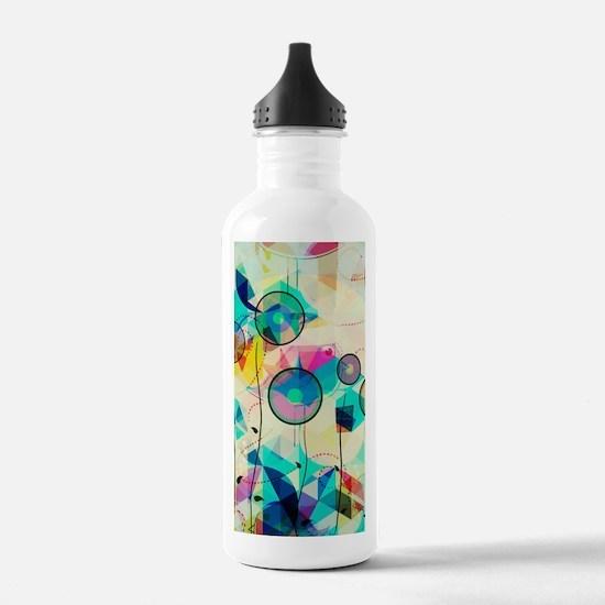 Cute Geometric Water Bottle