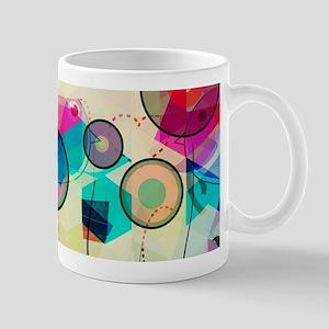 Colorful Abstract Digital Art Mugs