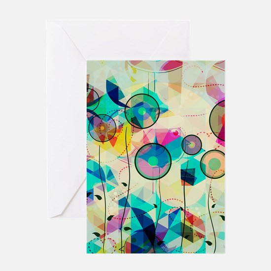 Colorful Abstract Digital Art Greeting Cards