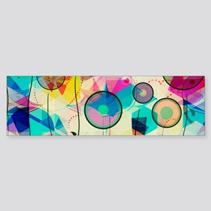 Colorful Abstract Digital Art Bumper Sticker