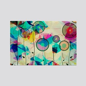 Colorful Abstract Digital Art Magnets