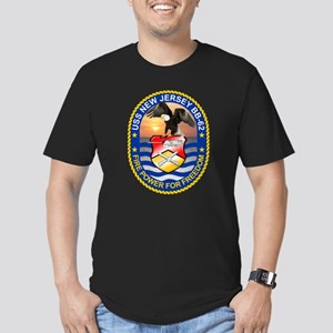Personalized Uss New J Men's Fitted T-Shirt (dark)