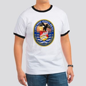 Personalized Uss New Jersey Bb-62 Ringer T