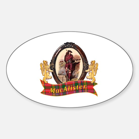 MacAlister Clan Sticker (Oval)