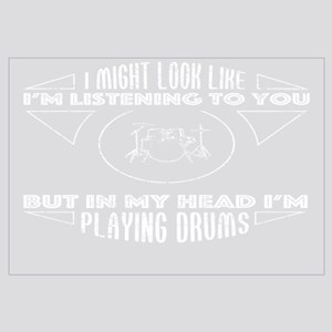 In My Head Im Playing Drums Shirt Wall Art