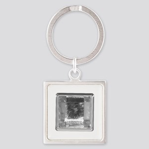 Clear Square Crystal Gen Stone Keychains