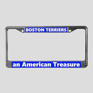 Boston Terriers A Treasure License Plate Frame