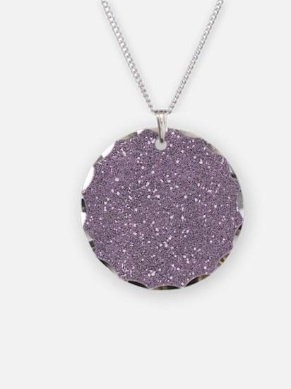 Purple Sparkle Glitter Shiny Pattern Necklace