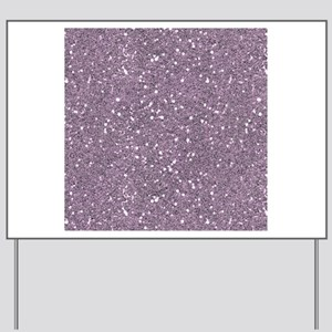 Purple Sparkle Glitter Shiny Pattern Yard Sign