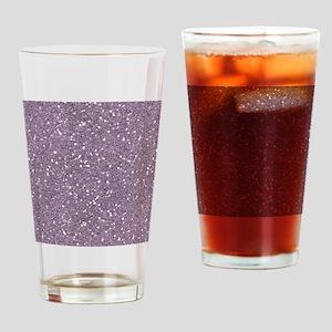 Purple Sparkle Glitter Shiny Pattern Drinking Glas